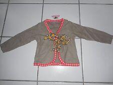 Nwt Jelly The Pug Girl 2 2T Indian Cardigan Bolero Bow Top Brown Red-Orange