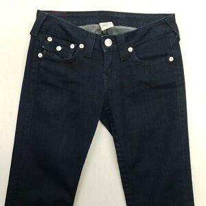 True Religion BILLY Womens STRETCH Jeans Low Rise W28 L28 Blue Regular Straight