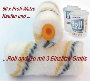 50 x Profi Walzen 10cm für Gelcoat 2K-Epoxidharz Boot Lack Antifouling Farbe