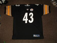 TROY POLAMALU #43 STEELERS BLACK HOME AUTHENTIC REEBOK FOOTBALL JERSEY sz 50 NEW