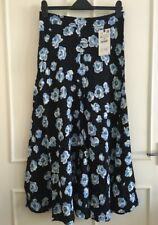 Neues AngebotZara Black Floral Print Midi Long Skirt Size M, L