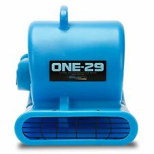 BlueDri® ONE-29 Air Mover Carpet Dryer Blower Floor Fan High CFM Low Amps Blue