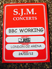 JLS THE FORTH DIMENSION TOUR 2012 WORKING BACKSTAGE SATIN PASS BBC SPORTS RELIEF