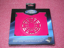 """IronTech IT-F1-PNK Supports Laptops from 8""""-15"""" USB Cooler Pad 60mm Fan (Pink)"""