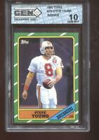 Steve Young RC 1986 Topps #374 49ers HOF Rookie GEM MINT 10