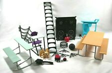 Monster High School Stairs Picnic Table BASKETBALL Stairs DISCO DJ Cauldron