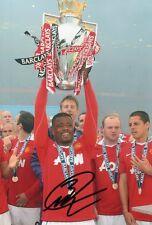 "Hand Signed Patrice Evra -MANCHESTER UNITED 12"" x 8"" photo France"