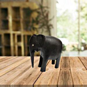 Natural Husk wild Elephant Wooden Handmade Craved  Home Decor figurine Statue