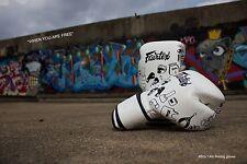 Genuine Fairtex New Art Design Graffiti White Brand New Micro Fiber Boxing Glove