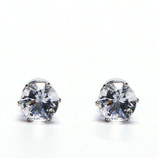 1X Exquisite Hot Mens Women Clear/Black Crystal Magnet Earrings Stud JewelryM PL