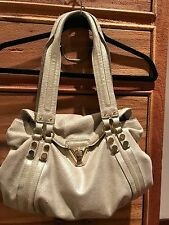 Anthropologie Pour la Victoire champagne shimmer leather satchel $350