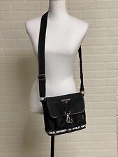 Vtg Ralph Lauren Polo Sport Messenger Bag Crossbody Spell Out Clasp Buckle