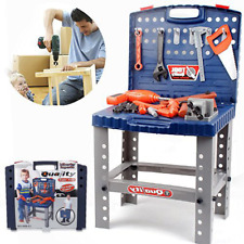 Play Toy Workbench Tool Set Drill Kid Baby Children Education Toolbox Bench NEW