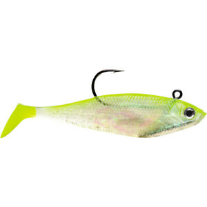 Storm Wildeye Swim Shad 3-inch Fishing Lures (3-Pack) - Shiner Chartreuse Silver