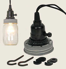 Mason Canning Fruit Jar Industrial Pendant Light Lamp Kit Use Your Mason Jar