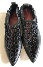 NWOB CELINE Crochet Pointed-Toe Flats Sandals Shoes 39/9 | Leather