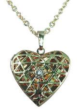 Modeschmuck-Halsketten & -Anhänger im Medaillon-Stil mit Herz für Damen