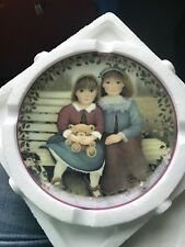 Kindred Moments Plate SISTERS ARE BLOSSOMS Chantal Poulin #1 Teddy Bear First Is