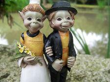 97114  FIGURINE COUPLE MARIE  BIGOUDENE TROLL BRETON BRETAGNE  PIXIE ELFE PIXIES