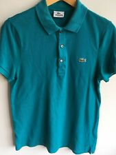 LACOSTE MENS 2 S SMALL SLIM FIT  36 TOP DESIGNER BLUE POLO T SHIRT