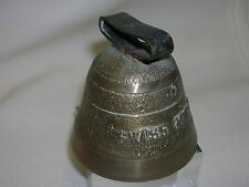 Vintage Brass Bell Swiss Made Old Store Door Bell Holder for Leather Strap