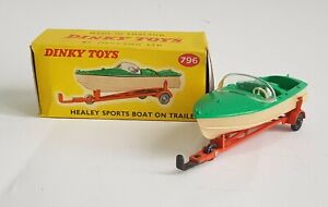 Dinky Toys No. 796, Healey Sports Boat on Trailer, - Superb Mint Condition.