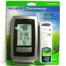 AcuRite 00754 Wireless Digital Weather Thermometer Indoor Outdoor Temperature St