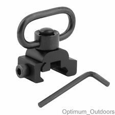 Quick détacher sling mount pivotant qd adaptateur pour 20mm weaver rails rifle gun rail