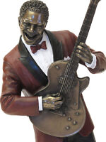 Jazz Musiker Gitarre Skulptur Figur Gitarrist *Le monde du Jazz*  20045D