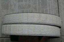 "W 1.3"" Luxury White Genuine Alligator Crocodile Belt Skin Leather Men's"
