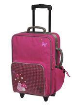 Reisekoffer Koffer Kindertrolley Reisetrolley Wäschebeutel Kinder Mädchen Pink