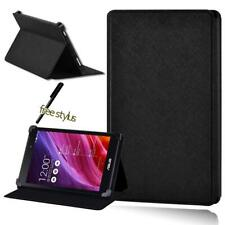 Para Asus MEMO Pad 7 HD 7 8 10 + Pluma de Cuero tipo Folio Negro Funda Cubierta Soporte Tablet