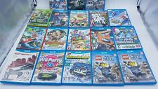 Lot of 18 Official Nintendo Wii U Game Cases & Artwork ONLY - NO GAMES