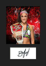 BAYLEY #2 (WWE) Signed (Reprint) Photo A5 Mounted Print - FREE DELIVERY