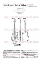 United States PATENT 1959 FENDER TELECASTER Electric Guitar A4 Printed Repro Art