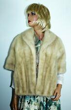 Vintage Mid Century Champagne Ivory Mink Coat Jacket Stole Wrap - fits most