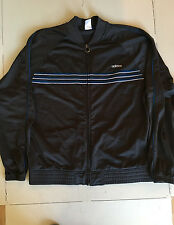 Men's Adidas Jacket Athletic Dark Navy Blue with Blue and Silver Stripes Size XL