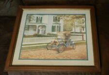 Home Interiors Vintage Couple, Model T Ford, Cobblestone Street D. Adair Picture