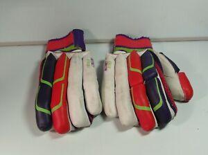 KOOKABURRA Mens RH Instinct 1890 Leather Cricket Batting Gloves Good Used