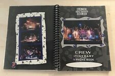 Rare Rolling Stones 94 / 95 Voodoo Lounge World Tour Crew Itinerary & Phone Book