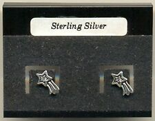 Shooting Star Sterling Silver 925 Studs Earrings Carded
