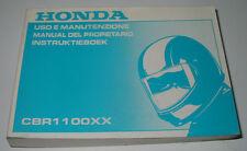 Uso E Manutenzione Honda CBR 1100 XX Manual Del Proprietario Instruktieboek 2000