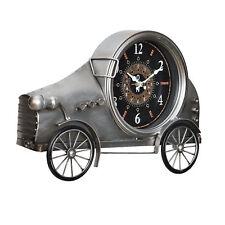 [en.casa]® Horloge murale voiture ancienne métal déco  design analogue murale