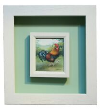 Original Miniature Gouache on Board Painting BANTAM COCKEREL by PHYLLIS ARNOLD