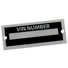 Body Tag Plate Model Number Replica Cobra Auburn Kit Car VIN ID Replicar Hot Rod