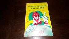 CIRQUE D'HIVER BOUGLIONE - Saison 1962