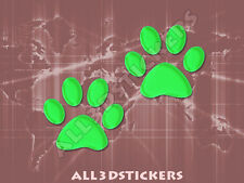 3D Sticker Decal Resin Domed Paws Adhesive Decal  Light Green