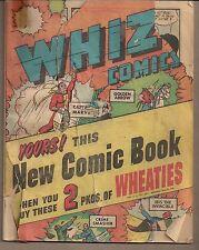Whiz Comics Fawcett Wheaties 1946 Promotional Mini Comic Captain Marvel+ 32 Pgs