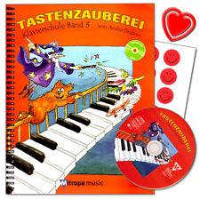 Tastenzauberei Band 3 - Klavierschule mit CD von Anike Trabon - 9789043130868