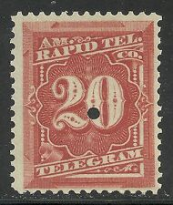 U.S. Revenue Telegraph stamp scott 1t6 - 20 cent - American Rapid Tele. Co.  mnh